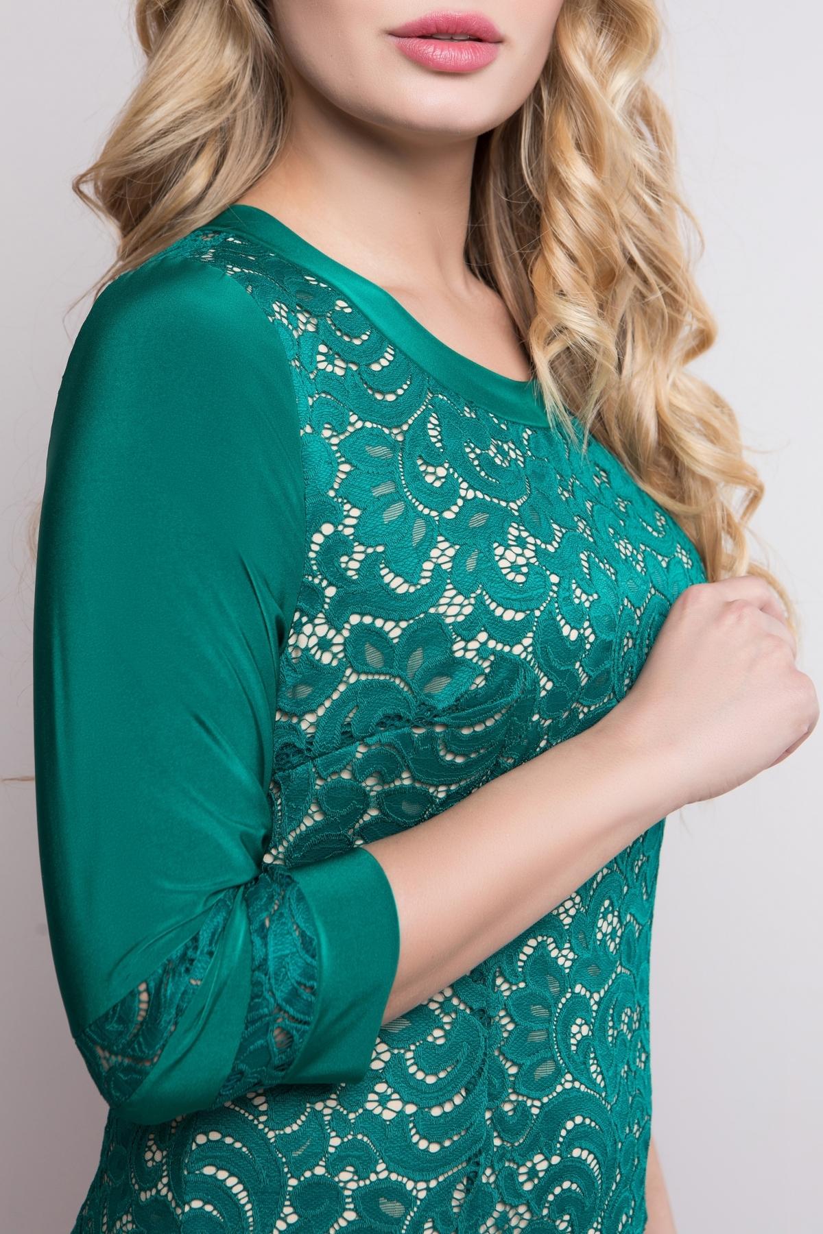 Платье Персик (изумруд)