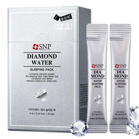 SNP Увлажняющая ночная маска с алмазной пудрой и гиалуроновой кислотой Diamond Water Sleeping Pack, 4мл*20