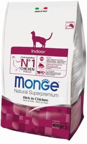 Купить Monge Cat Indoor корм для домашних кошек 400 гр