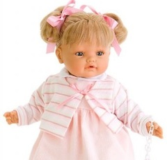 JUAN ANTONIO munecas Кукла Лусия, плачущая, 42 см (1663P)