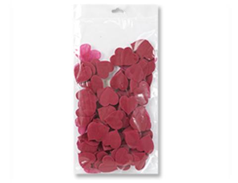 1501-4586 Конфетти Сердце текстиль бордо 2см 30гр