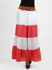 512-1 юбка женская, красная