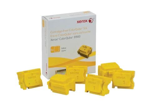 Оригинальный набор картриджей (твердые чернила) Xerox 108R01024, желтые 6 шт.
