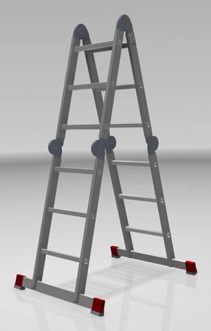 Лестница четырехсекционная Новая высота 4х3