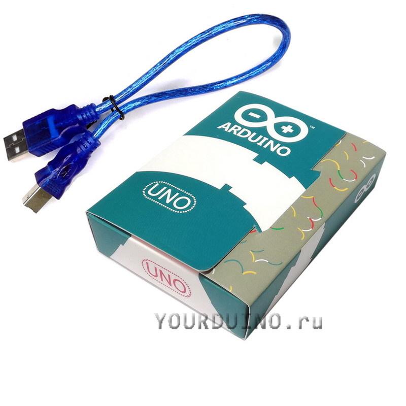 UNO R3 (Arduino совместимый контроллер) в коробке