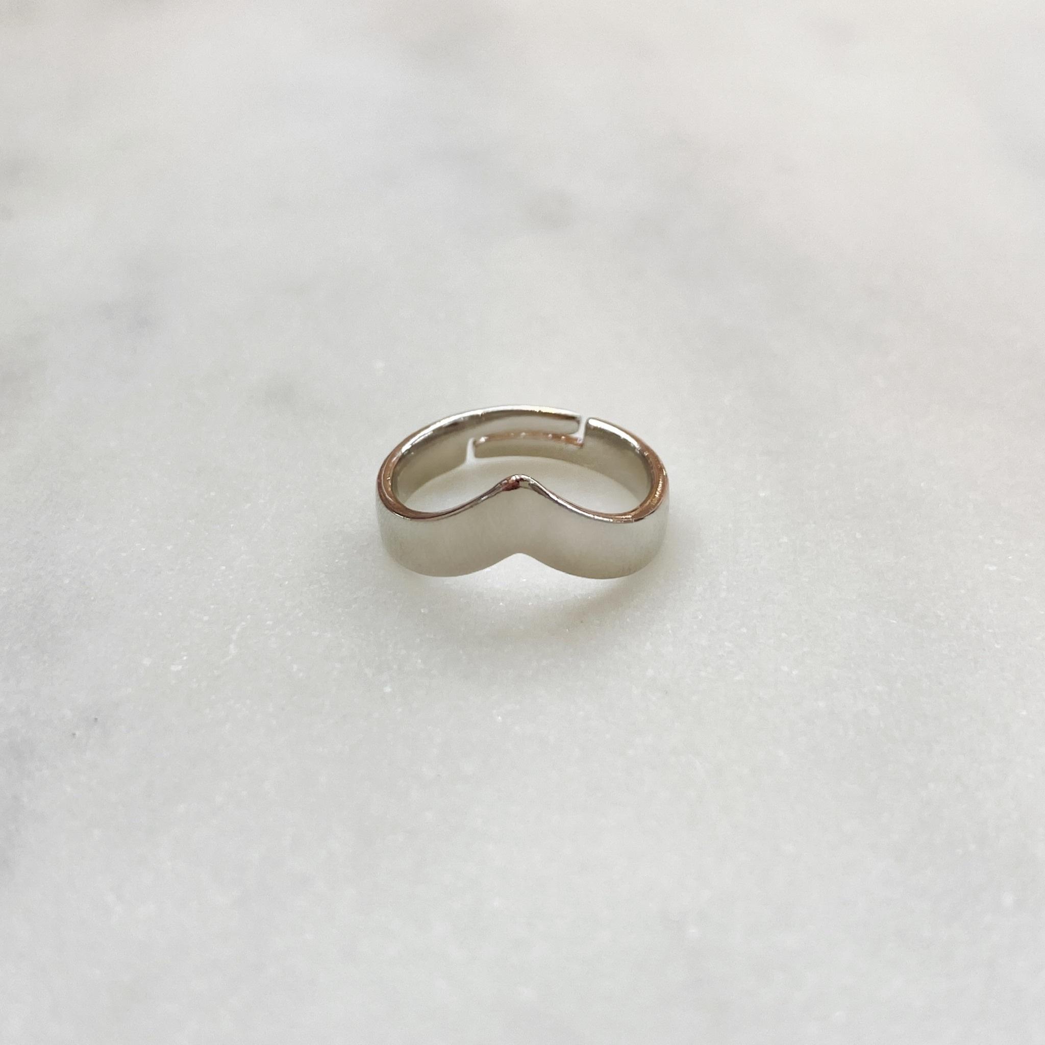 Кольцо на фалангу V-образное (серебристый)