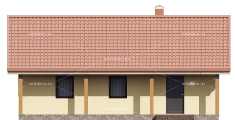Проект гаража на 2 машины с террасой