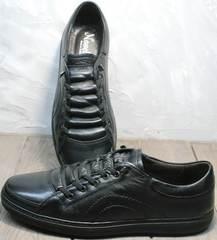 Сникерсы кроссовки без шнурков и липучек мужские на осень Novelty 5235 Black