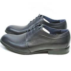 Кожаные туфли мужские классика Ikos 060-4 ClassicBlue