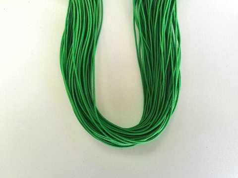 Шляпная резинка, толщина 1мм, цвет зеленый. 1м.