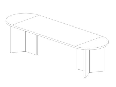 Стол овальный 2900 мм (Lava/Terra)