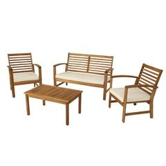 Комплект садовый стол, диванчик и 2 стула Trento