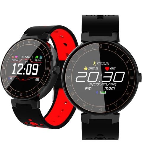 Makibes L8 Фитнес часы (смарт браслет) с контролем сердечного ритма и давления (Черный)