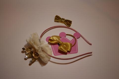 Набор из ободка, заколки и резинки в подарочной коробке (арт.5004)