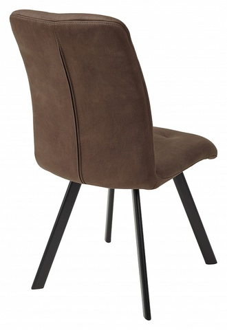 Стул VILMAR BROWN коричневый нубук M-City (обеденный, кухонный, для гостиной), Материал каркаса: Металл, Цвет каркаса: Чёрный, Материал сиденья: Ткань, Цвет сиденья: Тёмно-коричневый, Цвет: Коричневый