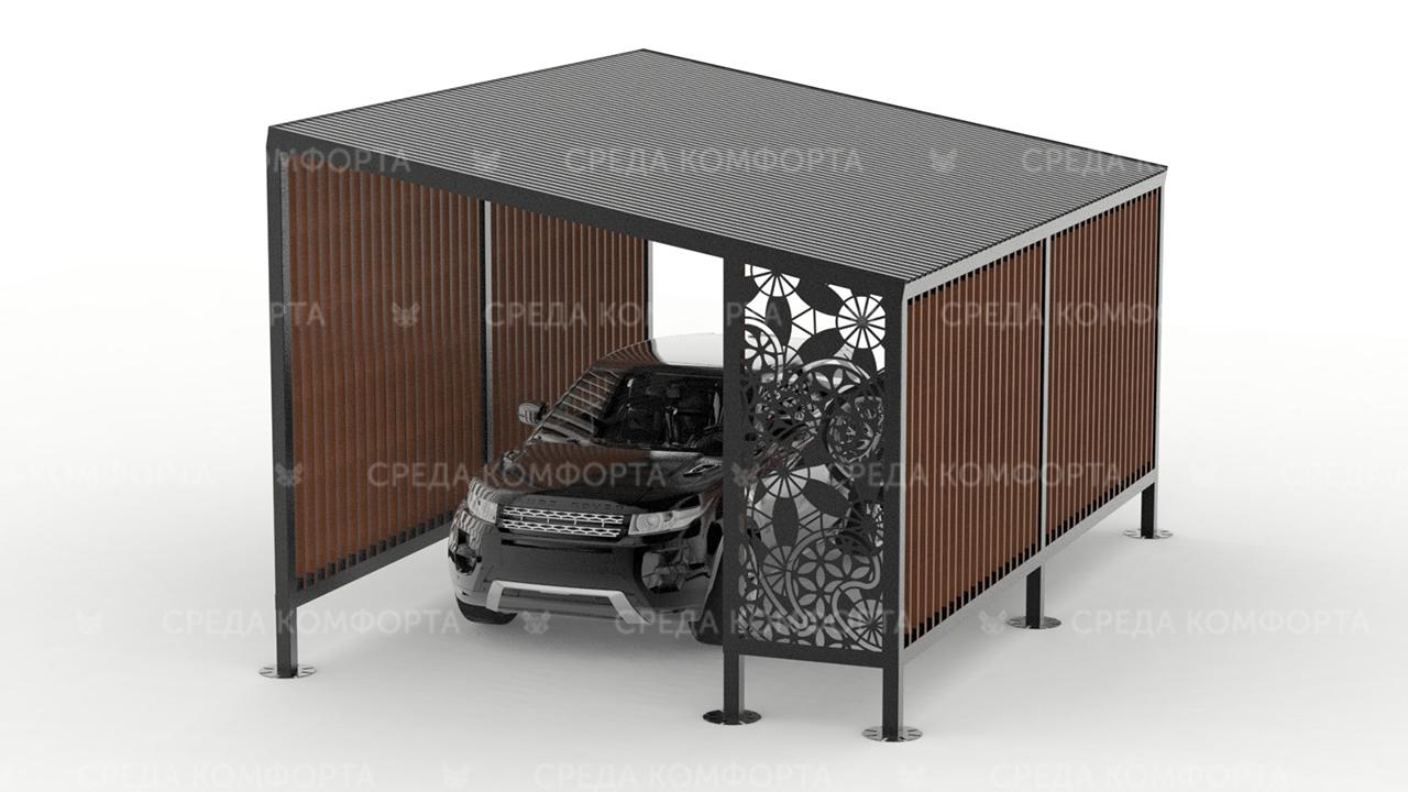 Навес гараж с местом для хранения колес и велосипедов AVNVS0023