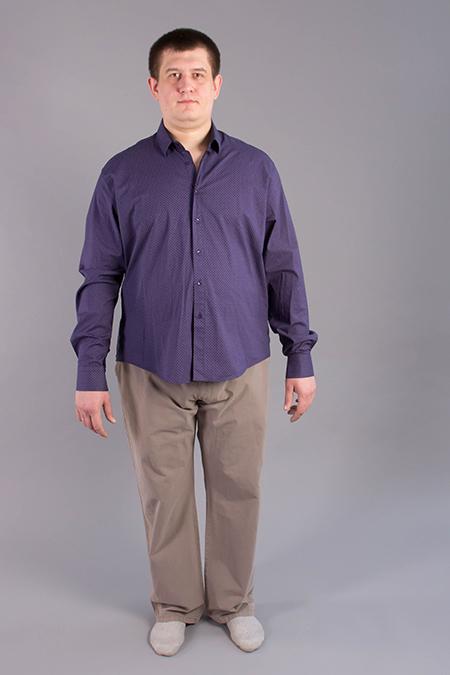 Лекала мужской рубашки большого размера