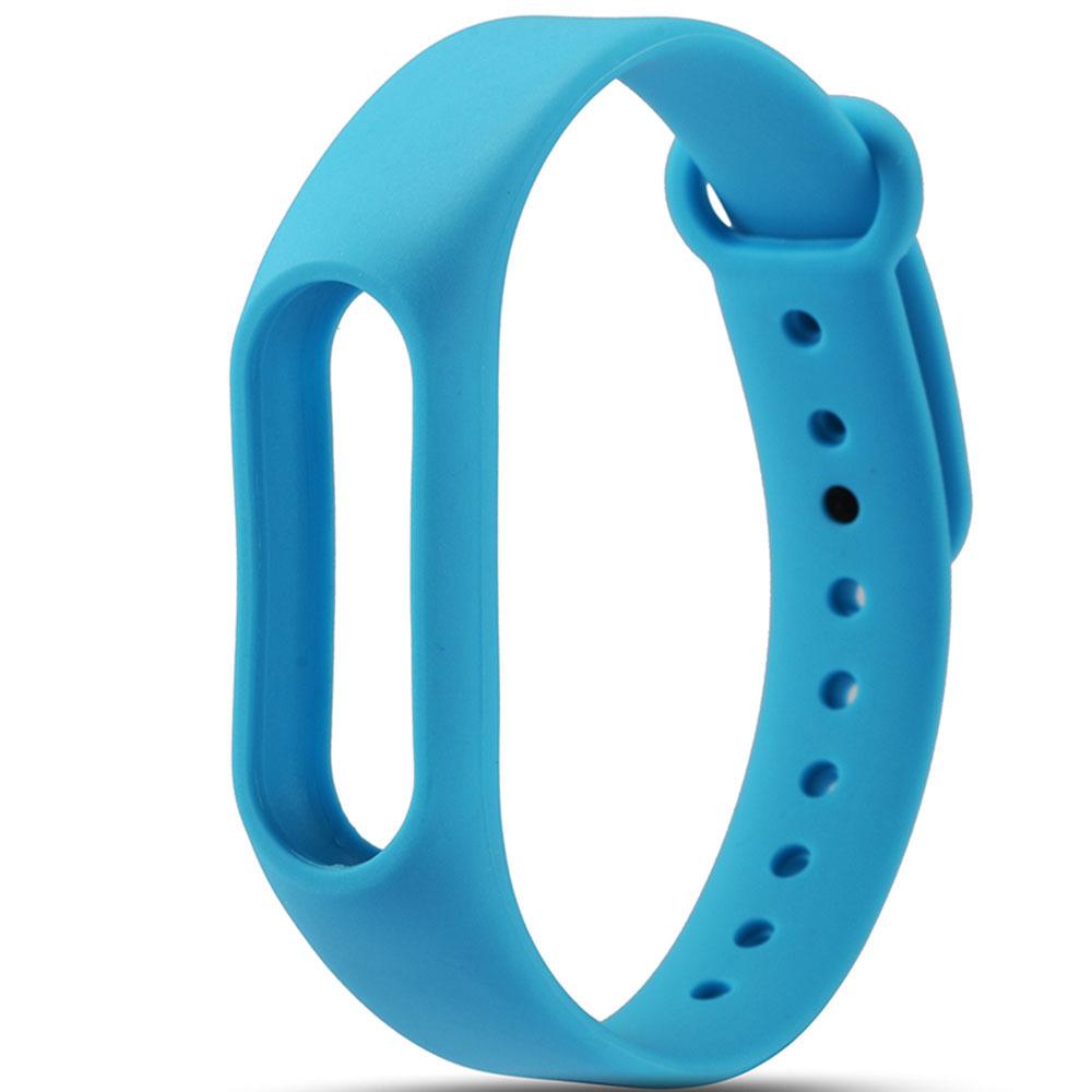 Голубой вариант цвета сменного цветного браслета на Smart Mi Band 2