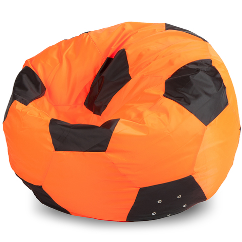 Кресло-мешок мяч  XXL, Оксфорд Оранжевый и черный