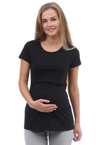 Футболка для беременных и кормящих 09962 черный