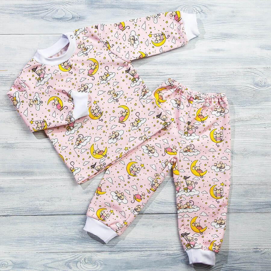 Пижама с начесом для детей