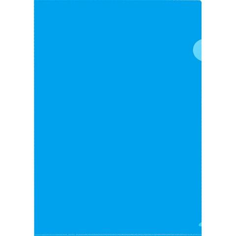Папка-уголок A4 синяя 180 мкм (10 штук в упаковке)