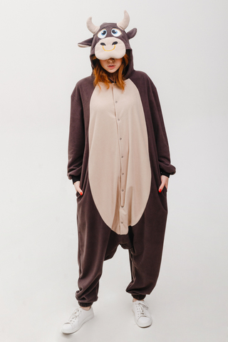 "Пижама кигуруми ""Бык"" детский, символ 2021 года"