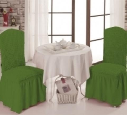 Чехлы на стулья (2 шт) цвет зеленый