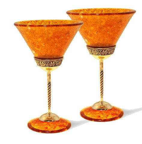 Бокалы для мартини из янтаря «Антик»