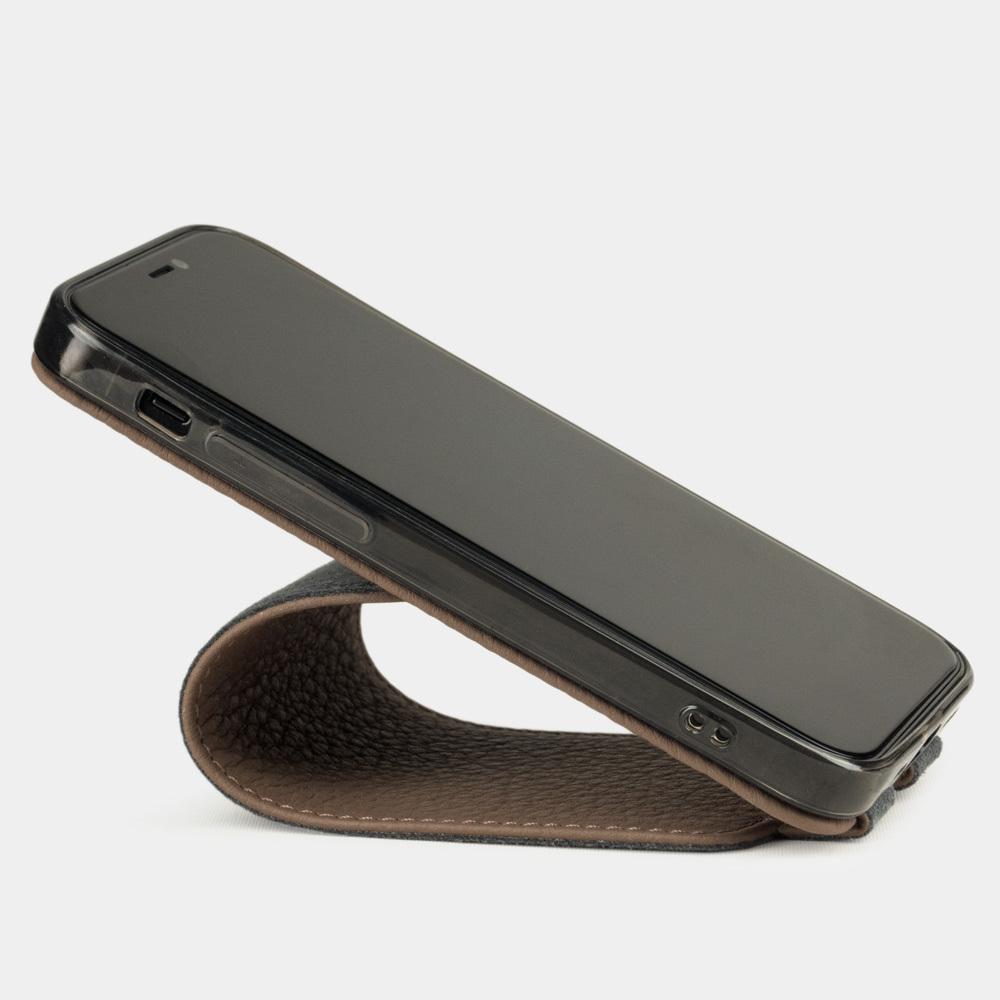 Чехол для iPhone 12/12Pro из натуральной кожи теленка, цвета кофе