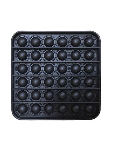Поп Ит Игрушка антистресс Вечная пупырка Попит 12,3 х 12,3 см черный квадрат POP IT