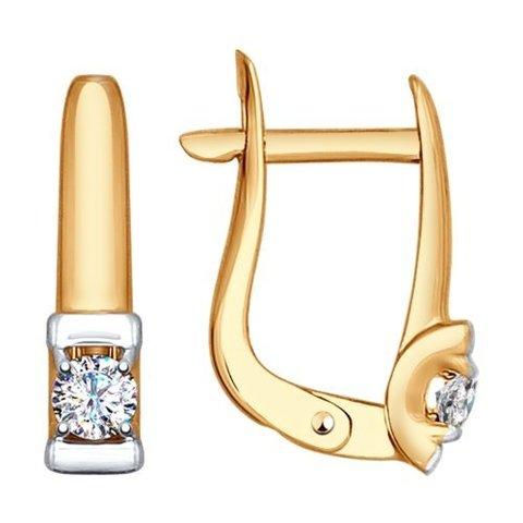 027518 -Серьги из золота с фианитом от SOKOLOV