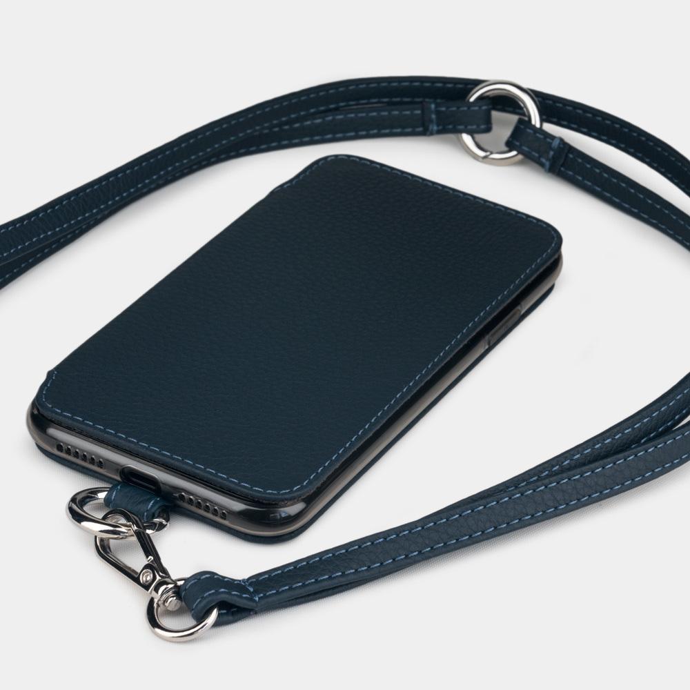 Чехол Marcel для iPhone 11 из натуральной кожи теленка, цвета синий мат