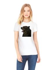 Футболка с принтом Медведь, Медвежонок (Bear) белая w0010