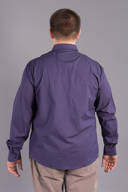 Выкройка мужской рубашки большого размера вид сзади