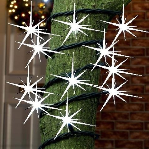 Наружная уличная на деревья гирлянда нить с мерцанием полным мерцает каждый светодиод flsh led light