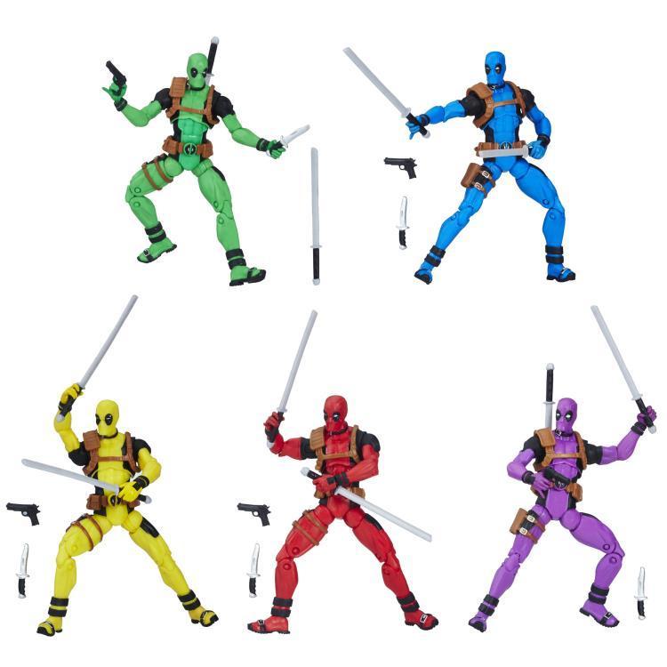 Набор 5 фигурок Дэдпул Marvel Legends 9,5 см