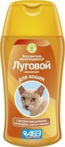Луговой инсектицидный зоошампунь для кошек 180 мл