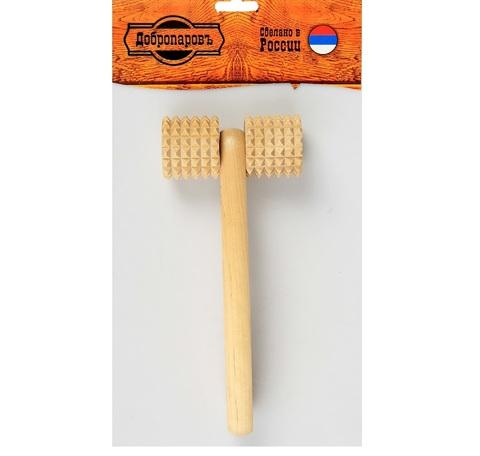 Массажёр банный Добропаровъ зубчатый, с ручкой