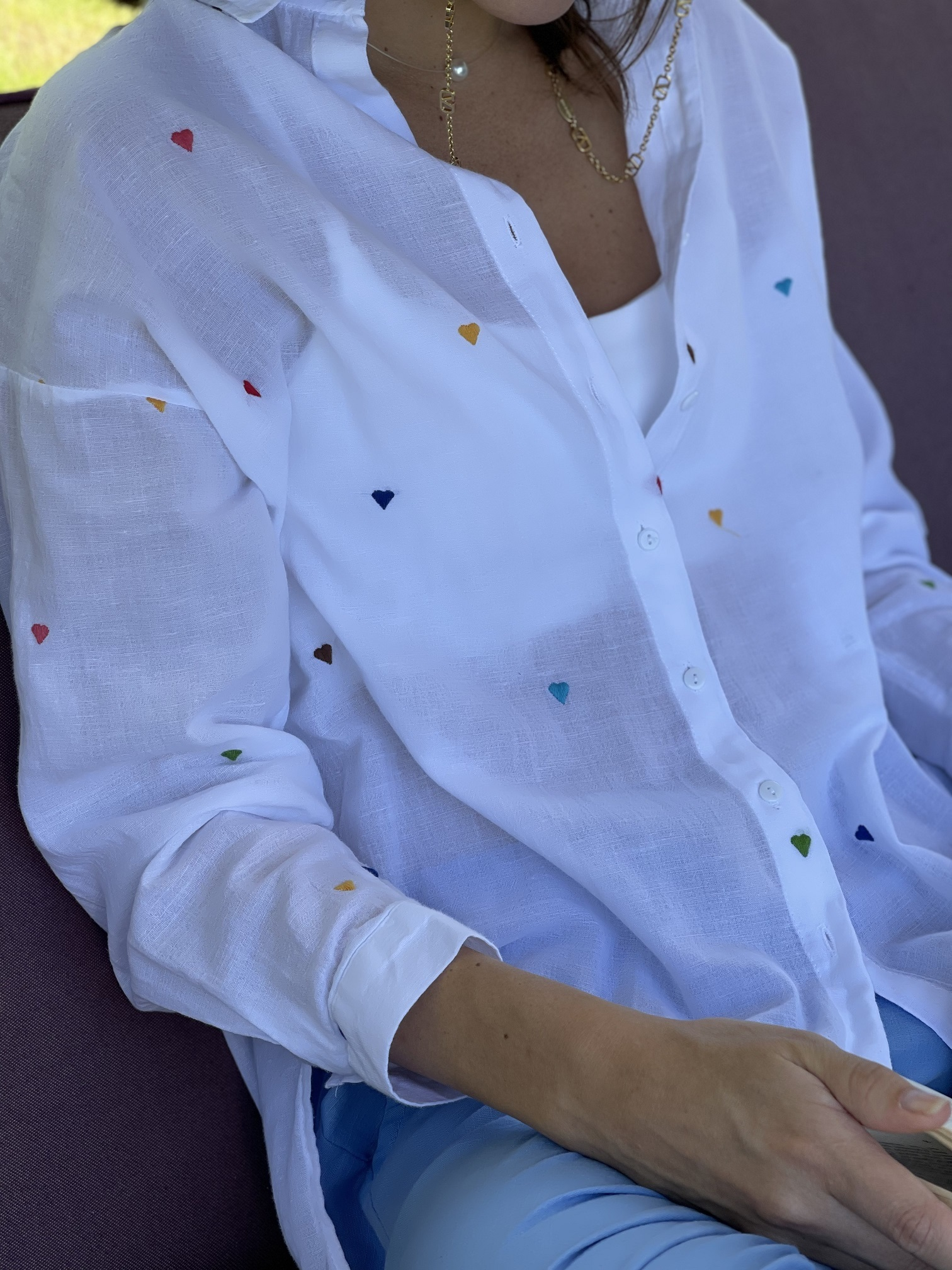 Рубашка, Ballerina, Hearts (белый)