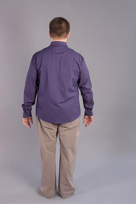 Лекала мужской рубашки цельнокроеная спинка