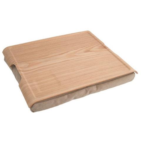 Подставка с деревянным подносом laptray дерево-песчаная