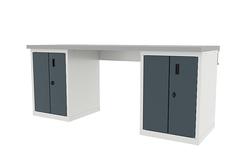 Верстак с двумя тумбами, дверцы, Ferrum 4.2Т , серия TITAN