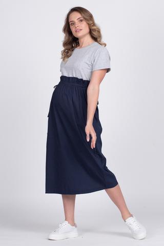 Платье для беременных и кормящих 12739 серый