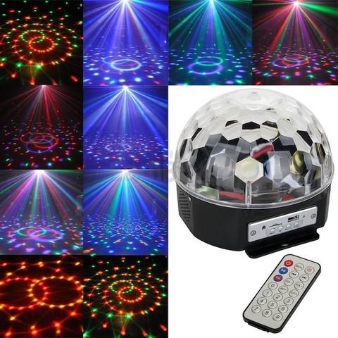 Диско шар Magic Ball Light MP3 с флешкой  (цветомузыка)