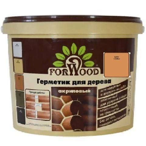 Forwood герметик для дерева и бетона акриловый для наружных и внутренних работ цвет тик 14кг вд-ак 1501