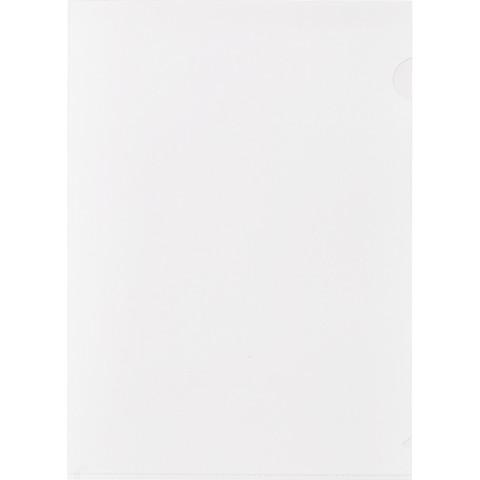 Папка-уголок A4 белая матовая 180 мкм (10 штук в упаковке)