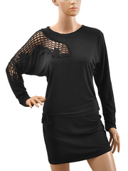 A1220 платье жен., черный