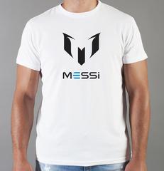 Футболка с принтом Лионель Месси (Lionel Messi) белая 008