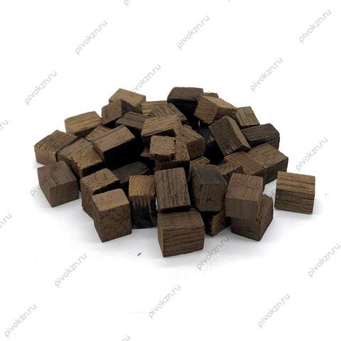 Дубовые кубики сильной обжарки, 100 г